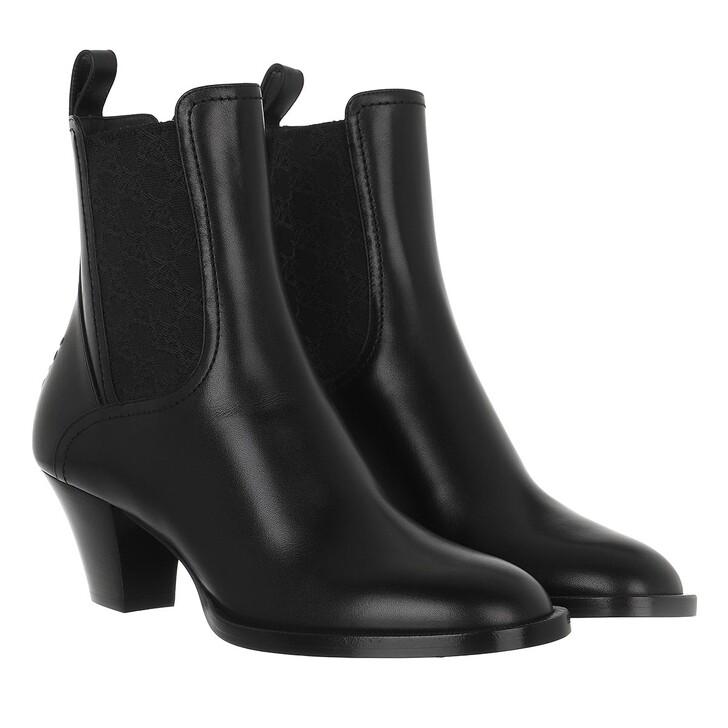 shoes, Fendi, FF Karligraphy Motif Ankle Boots Black