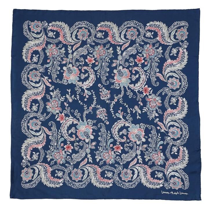 Schal, Lauren Ralph Lauren, Frances Square Scarf Silk Shibori Blue