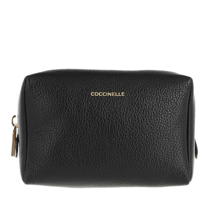 necessaires, Coccinelle, Tris Trousse Minibag Noir/Cara/Lambskin White