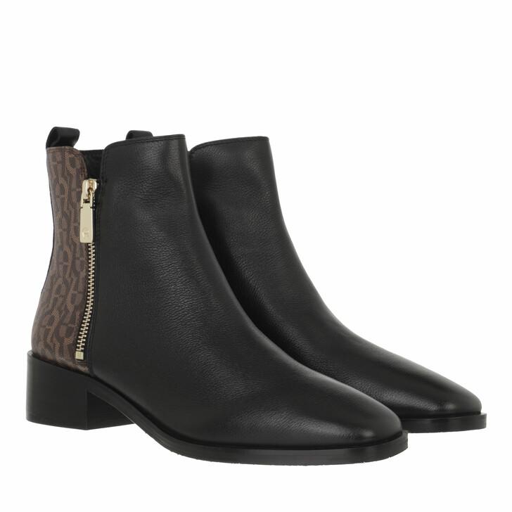 shoes, AIGNER, Block Heel Bootie Black Fango