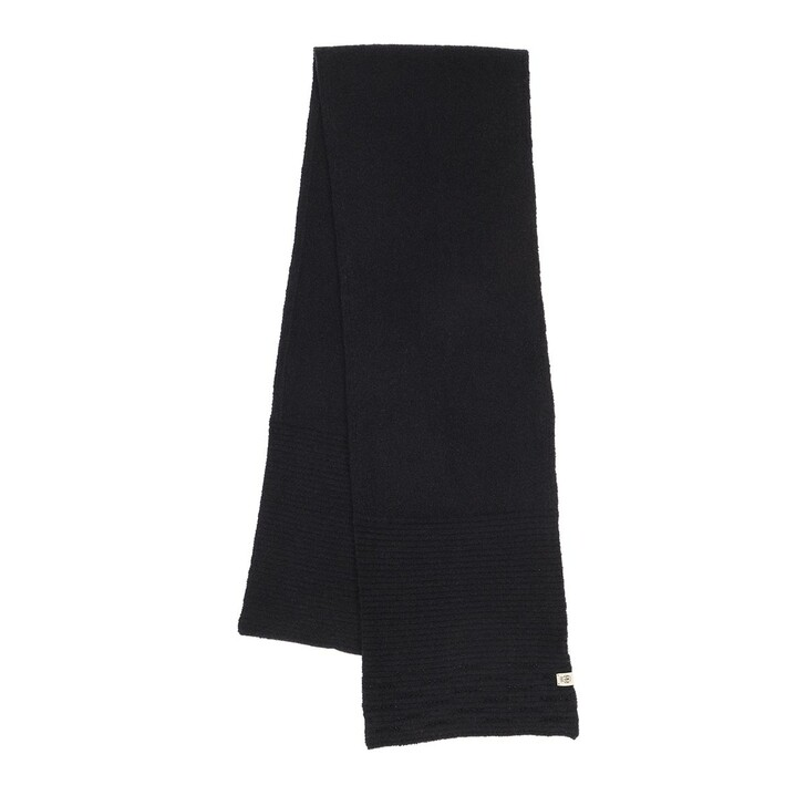 Schal, Roeckl, Shiny Rip Scarf 30x180 Black