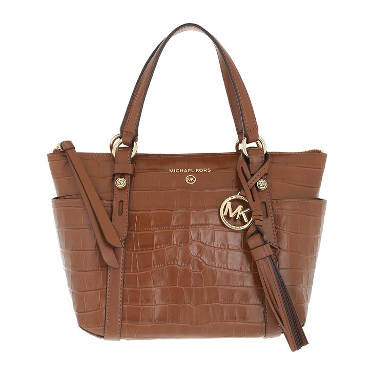 bags, MICHAEL Michael Kors, Small Conv Tz Tote Chestnut