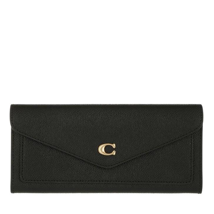 Geldbörse, Coach, Crossgrain Leather Wyn Soft Wallet Li/Black