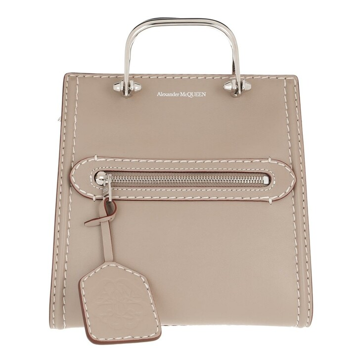 bags, Alexander McQueen, The Short Story Crossbody Taupe