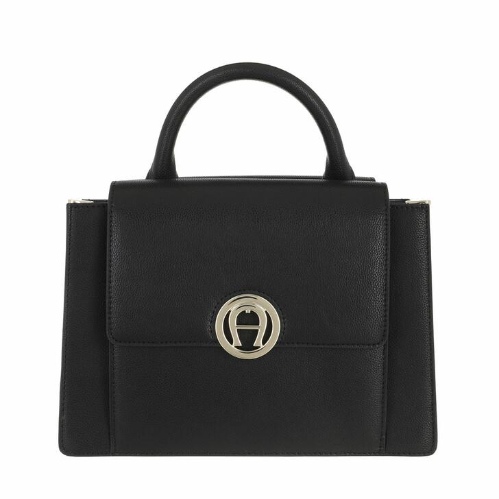 bags, AIGNER, Livia Handbag Black