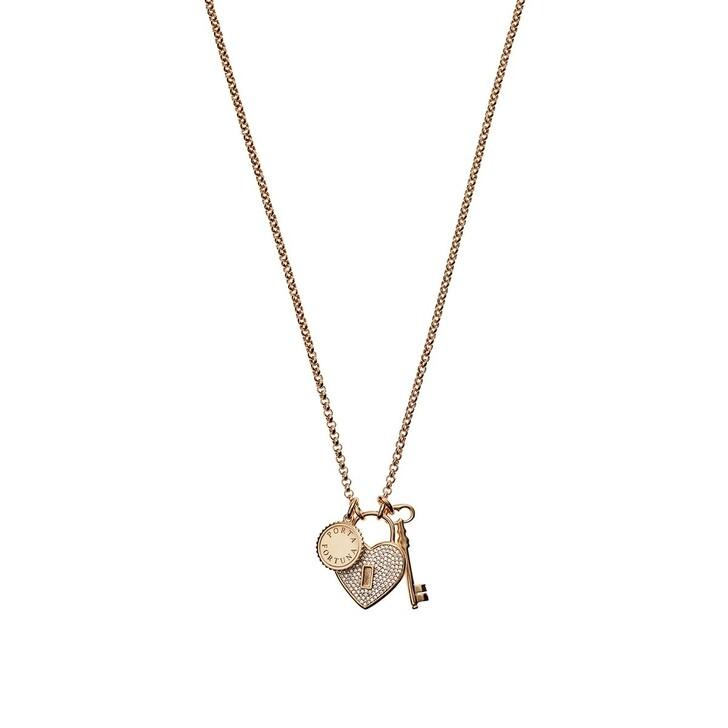 Kette, Emporio Armani, Women's Sterling Silver Necklace Rose Gold-Tone