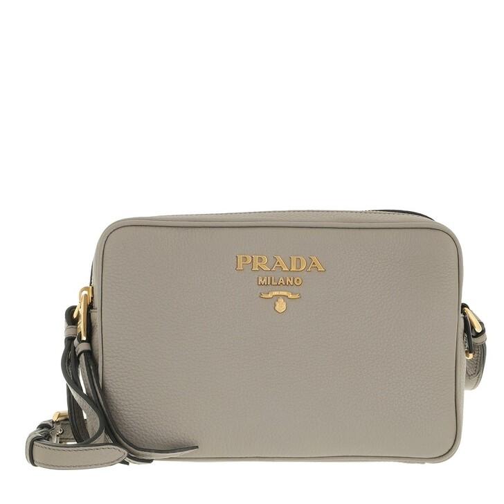 bags, Prada, Double Zipper Shoulder Bag Grey