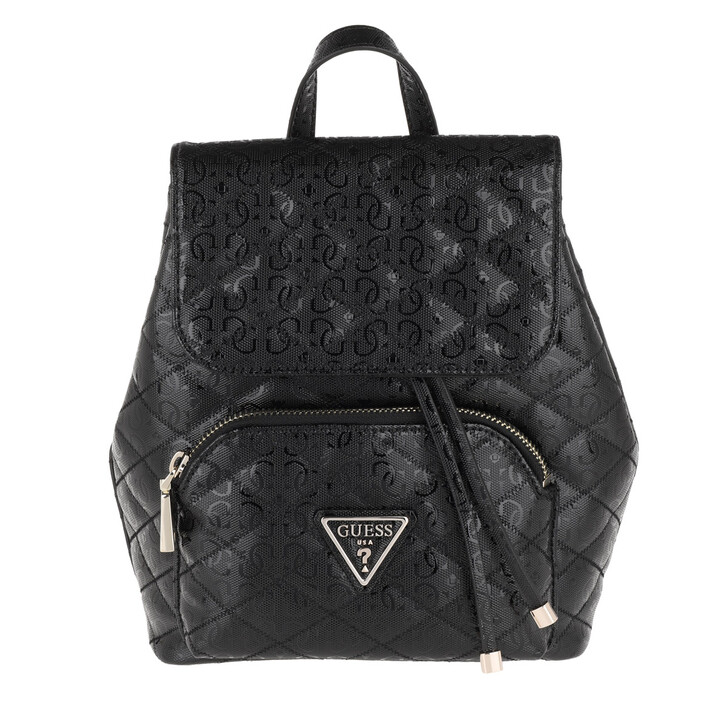 bags, Guess, Astrid Backpack Black
