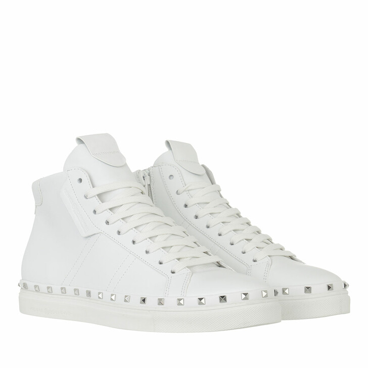 shoes, Kennel & Schmenger, Cosmo High-Top Sneaker Leather Bianco