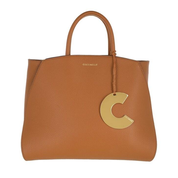 Handtasche, Coccinelle, Concrete Handle Tote Bag Caramel