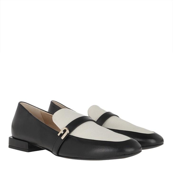 Schuh, Furla, 1927 Loafers Nero/Naturale