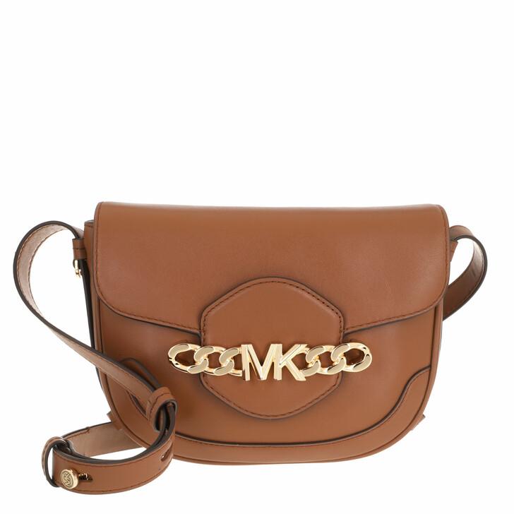bags, MICHAEL Michael Kors, Medium Saddle Messenger Luggage