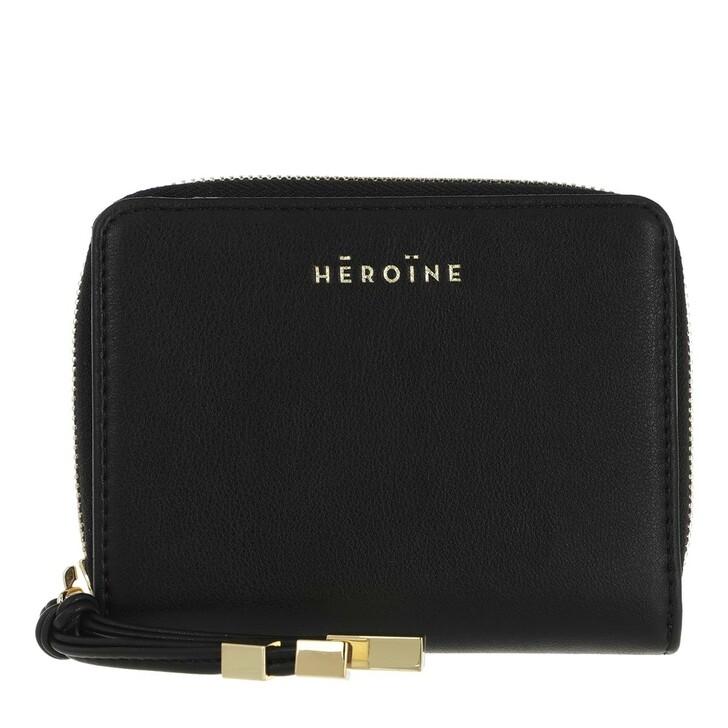 Geldbörse, Maison Hēroïne, Zoe Medium Ziparound Wallet Black