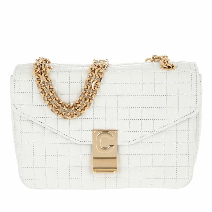 Handtasche, Celine, C Bag Medium Quilted Calfskin White