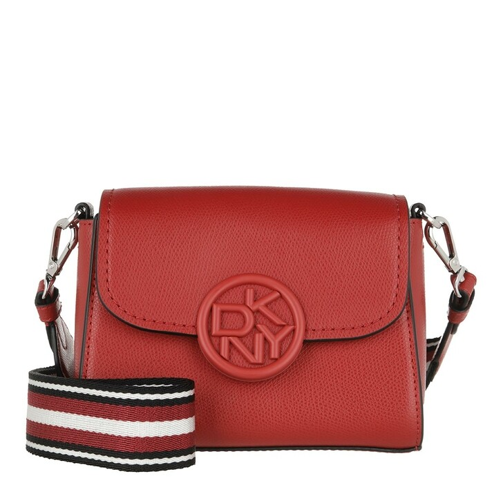 Handtasche, DKNY, Leina Flap Crossbody Bright Red