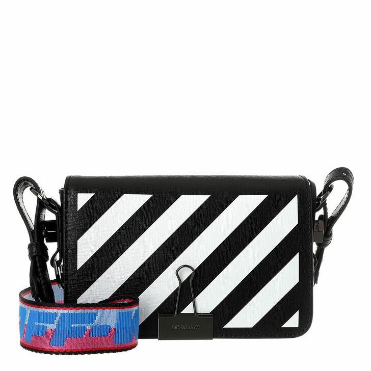bags, Off-White, Diag Mini Flap Crossbody Black White