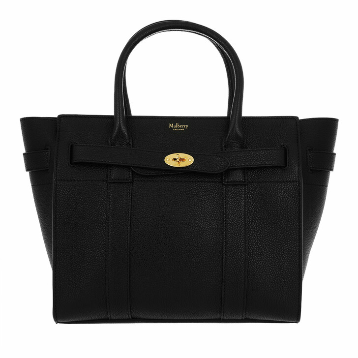 Handtasche, Mulberry, Bayswater Tote Bag Leather Small Black