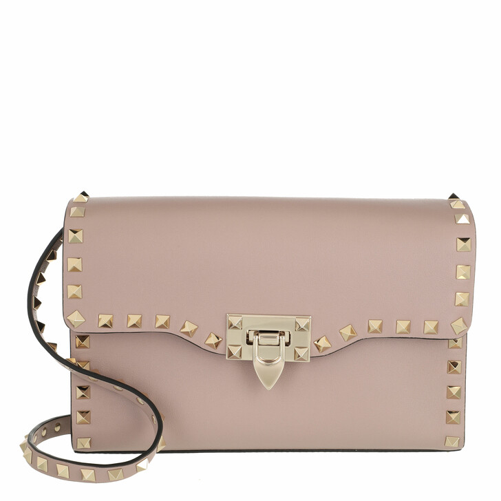 bags, Valentino Garavani, Rockstud Crossbody Bag Poudre