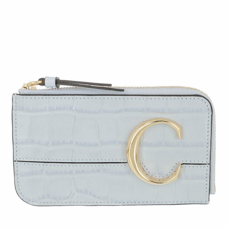 Geldbörse, Chloé, Compact Card Holder Wallet Light Cloud