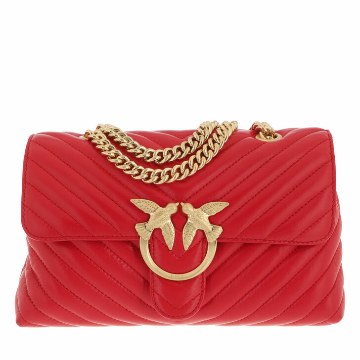 bags, Pinko, Love Lady Puff V Quilt 2 Cl Sh Rosso Puro