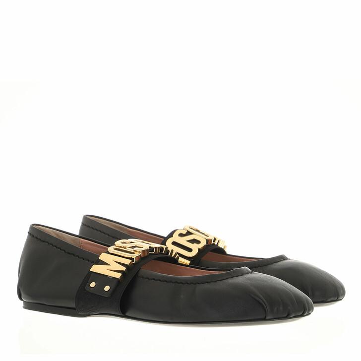 shoes, Moschino, Scarpad Ballerina5 Nappa  Nero