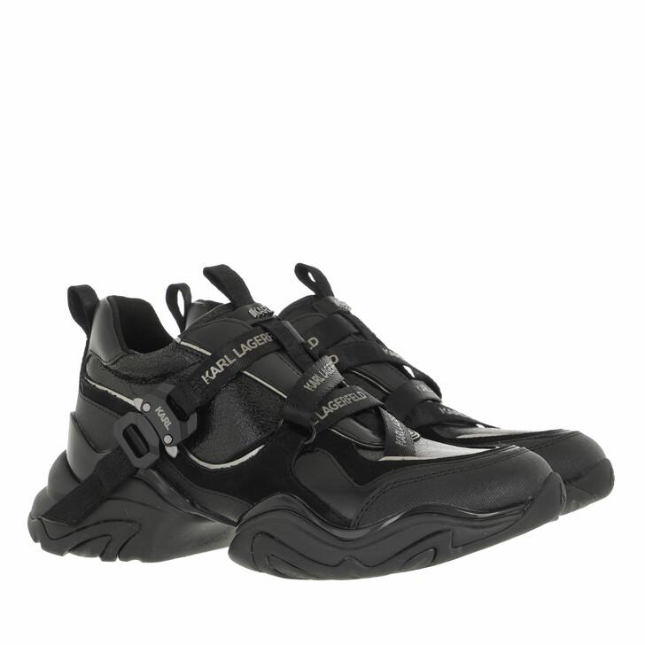 shoes, Karl Lagerfeld, GEMINI Karl Klip Krosstape Black Leather/Mono