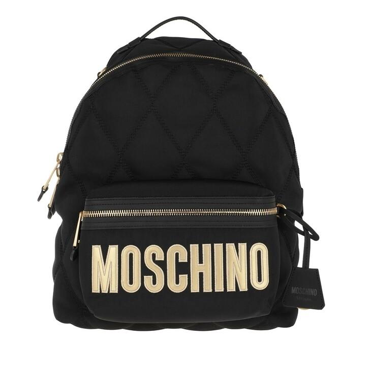 bags, Moschino, Logo Backpack