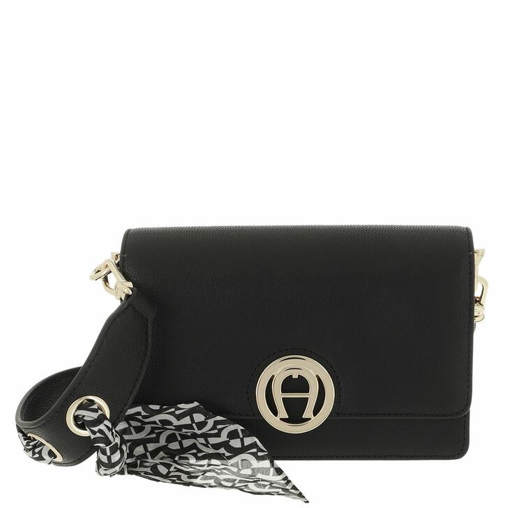 bags, AIGNER, Livia Crossbody Bag Black