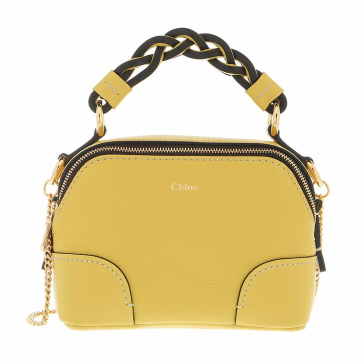 bags, Chloé, Mini Daria Chain Crossbody Bag Leather Sultan Yellow