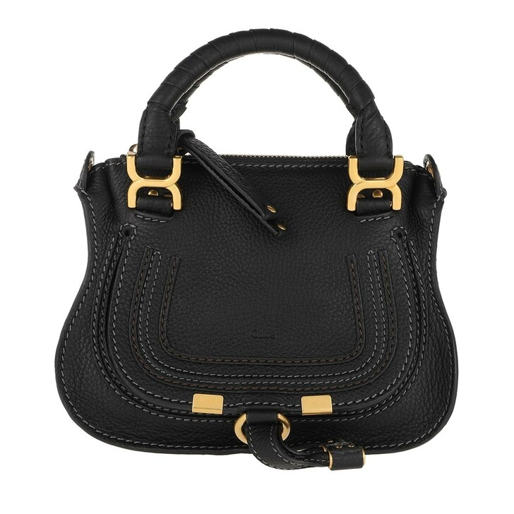 Handtasche, Chloé, Mini Marcie Crossbody Bag Black