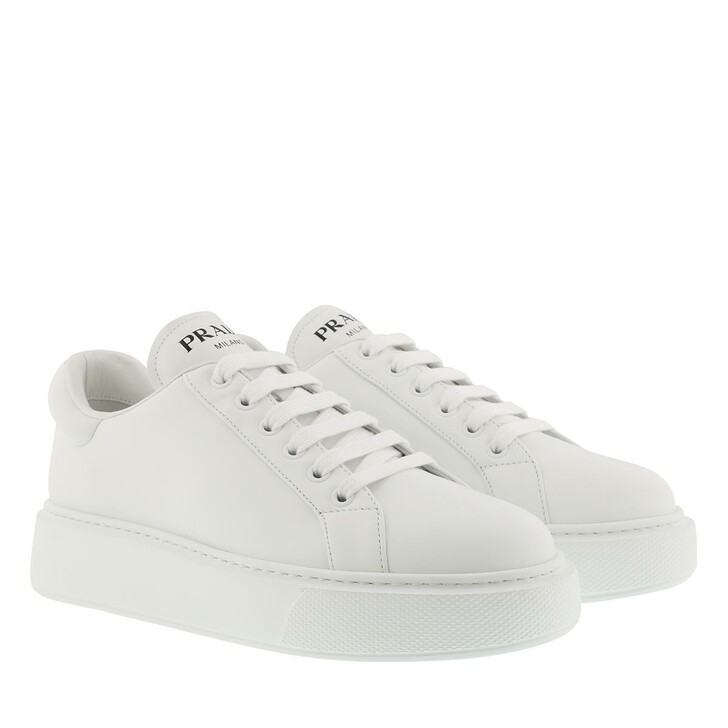 shoes, Prada, Sneakers Leather Bianco
