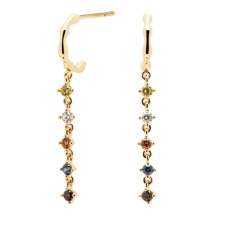 Ohrring, PDPAOLA, Earrings Sage Yellow Gold