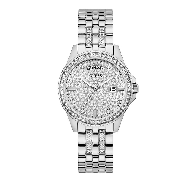 watches, Guess, LADIES DRESS WATCH Silver Tone