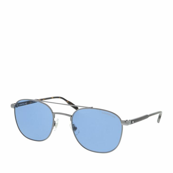 Sonnenbrille, Montblanc, MB0114S-002 54 Sunglass MAN METAL Ruthenium