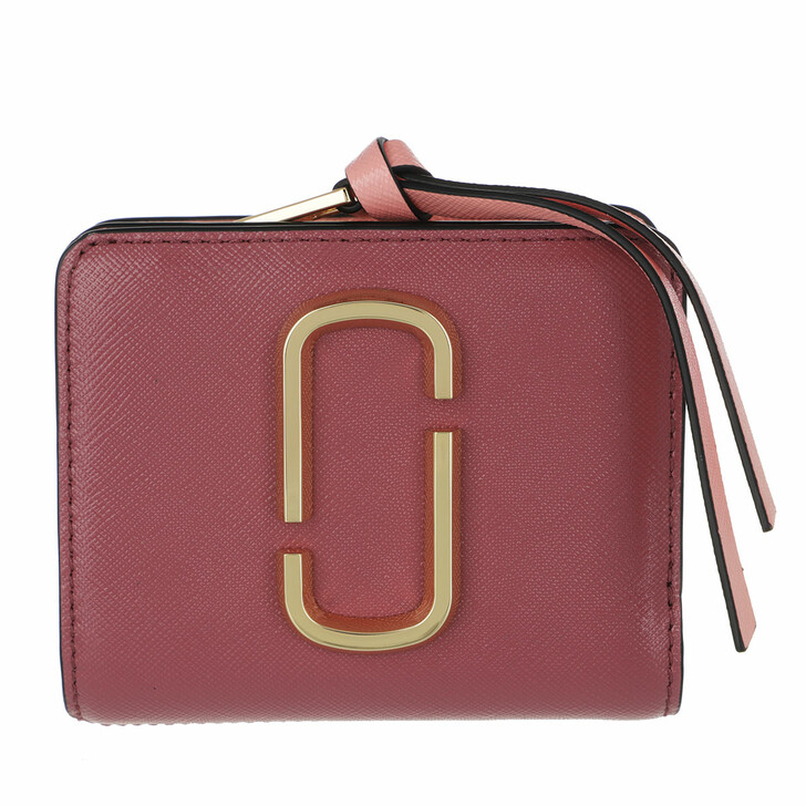 wallets, Marc Jacobs, The Snapshot Mini Compact Wallet Ruby/Multi