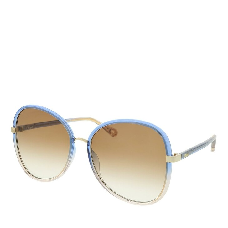 Sonnenbrille, Chloé, Sunglass WOMAN INJECTION BLUE-BLUE-BROWN