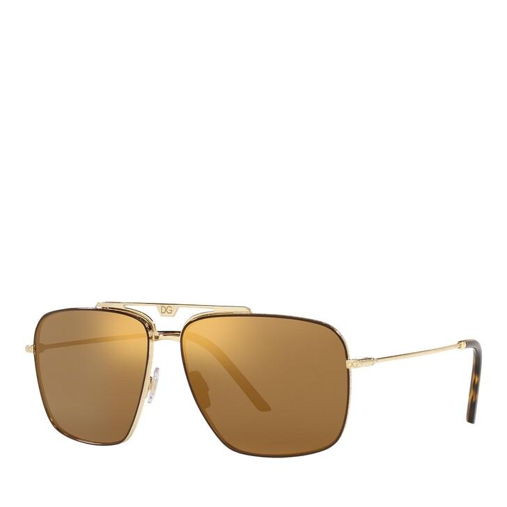 Sonnenbrille, Dolce&Gabbana, 0DG2264 GOLD/BROWN