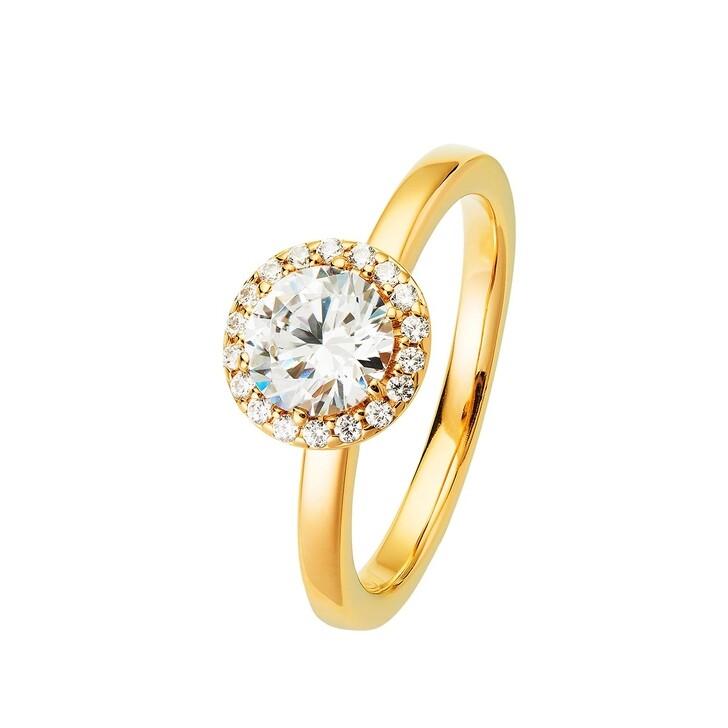 Ring, BELORO, Ring Sparkling Zirconia Yellow Gold