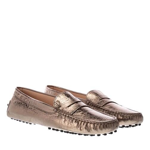 tod's -  Loafers & Ballerinas - Gommini Mocassino - in gold - für Damen