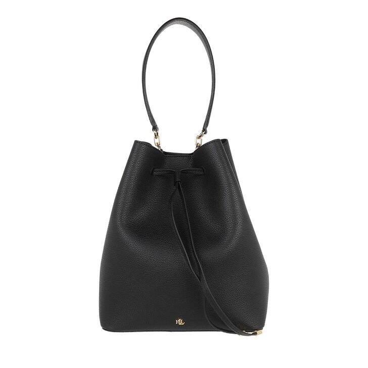 Handtasche, Lauren Ralph Lauren, Debby Drawstring Large Black