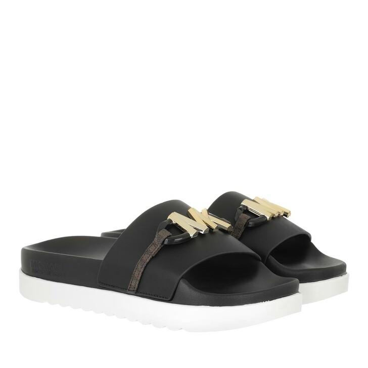 shoes, MICHAEL Michael Kors, Tyra Slide Black/Brown