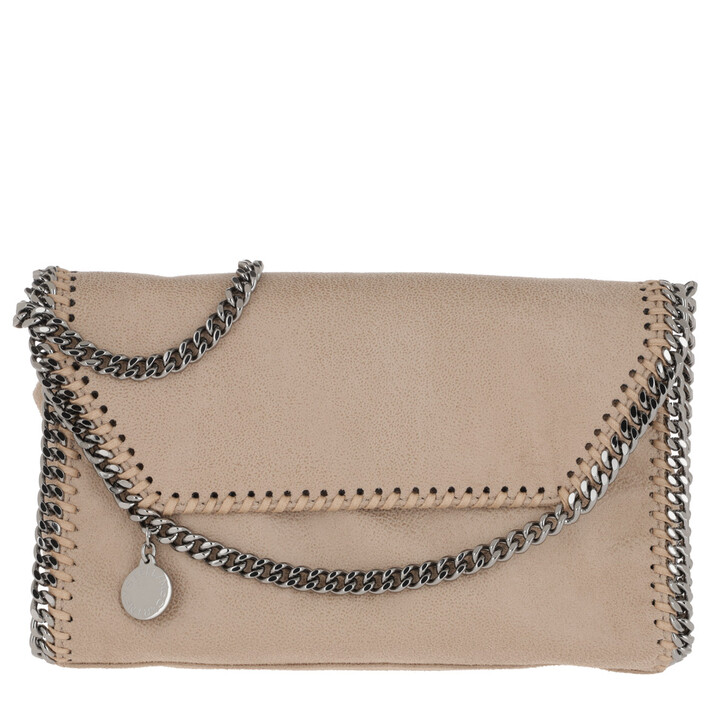 Handtasche, Stella McCartney, Falabella Shaggy Deer Mini Shoulder Bag Navy Clotted Cream