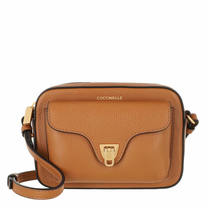 bags, Coccinelle, Handbag Bottalatino Leather  Caramel
