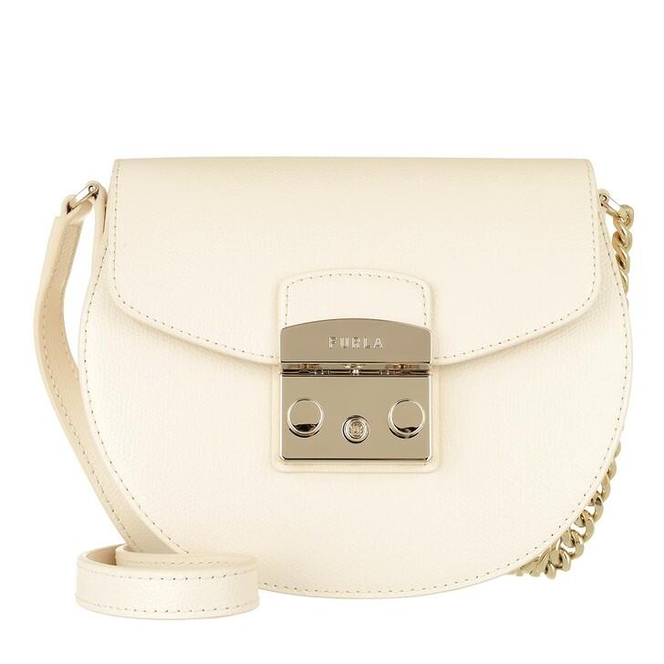 Handtasche, Furla, Metropolis Mini Crossbody Round Pergamena