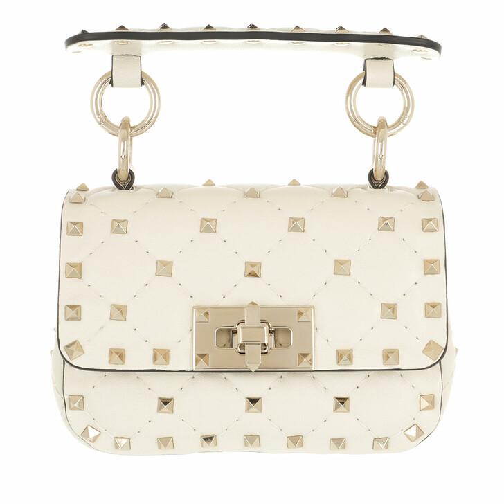 bags, Valentino Garavani, Mini Rockstud Spike Crossbody Calfskin Light Ivory