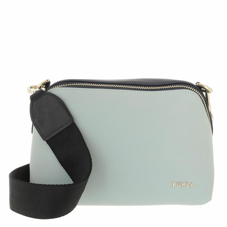 bags, Furla, Furla Amica S Crossbody Menta+Blu D+Nero