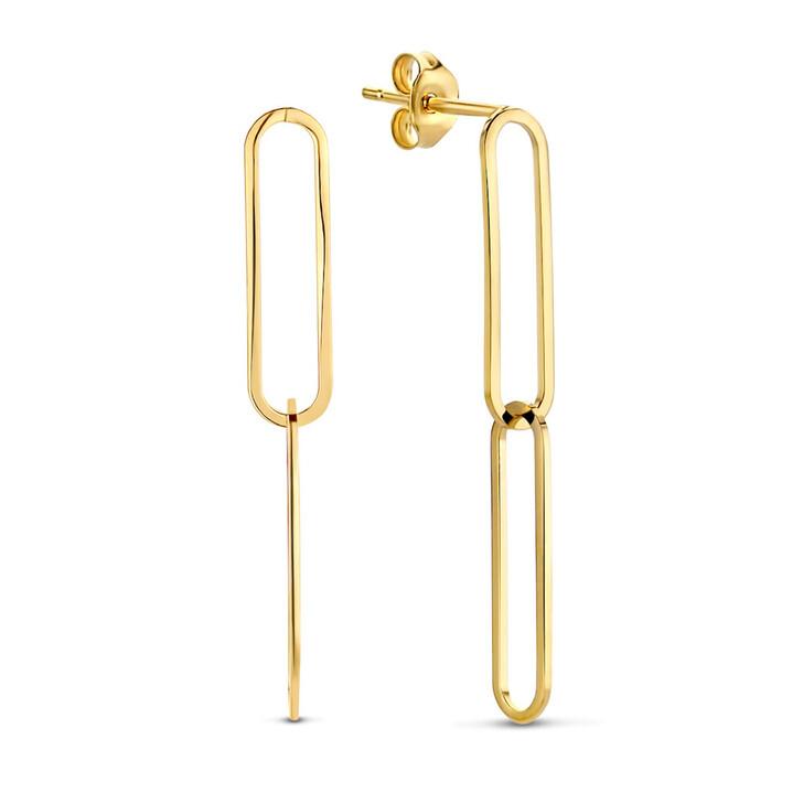 earrings, Isabel Bernard, Aidee Ayla 14 Karat Drop Earrings With Links Gold