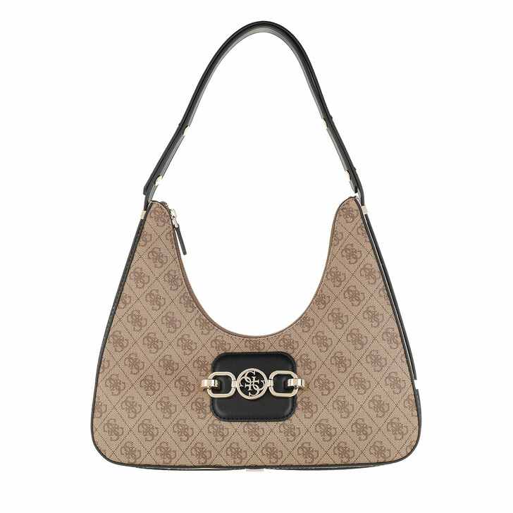 Handtasche, Guess, Hensely Hobo Latte Multi