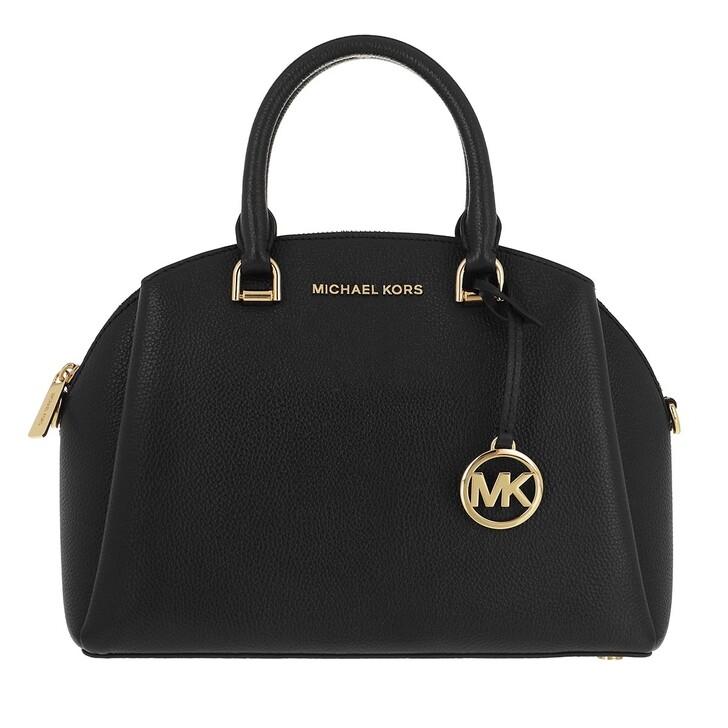 bags, MICHAEL Michael Kors, Medium Dome Satchel Black