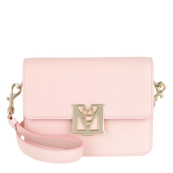 Handtasche, MCM, Mena Visetos Leather Block Shoulder Bag Mini Powder Pink